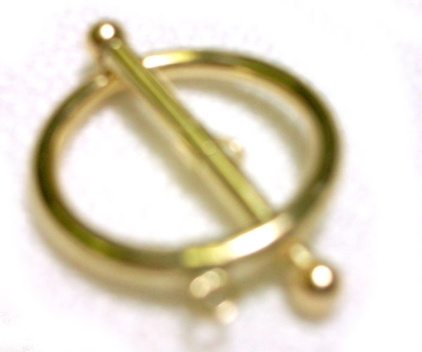 14K Yellow Gold Large Round Toggle Clasp