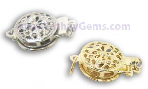 14K YG for Single Row Pearls Round Clasps