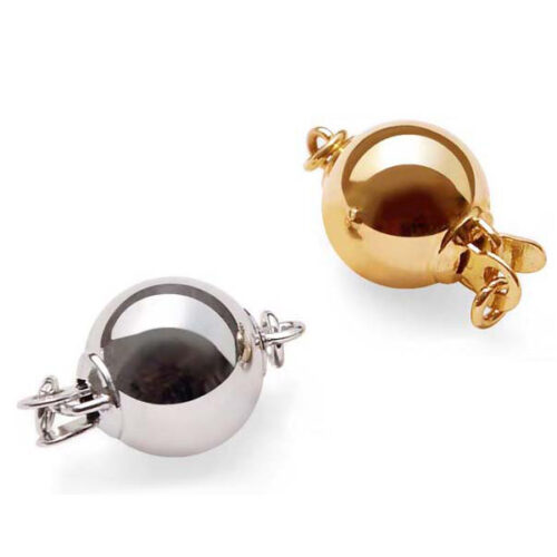 14K Yellow or White Gold Ball Clasp for Single Strand