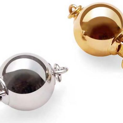 14K YG or WG for Single Row Pearls Ball Clasps