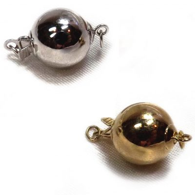 14K gold 10mm ball clasp