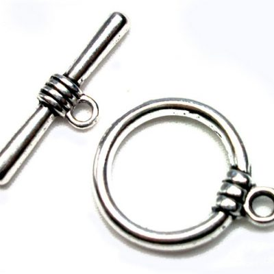 Large Sized Round Toggle Clasp