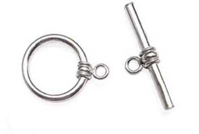 Silver 925 SS for Single Row Pearl Toggle Clasp