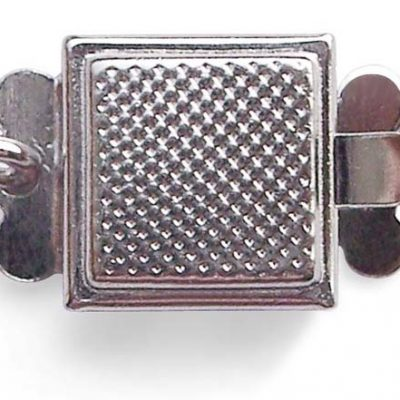 925 SS Square Shaped Single Row Clasp