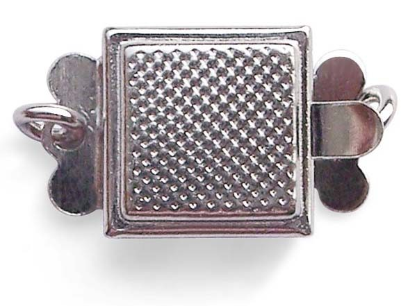 925 SS Square Shaped Single Row Clasp
