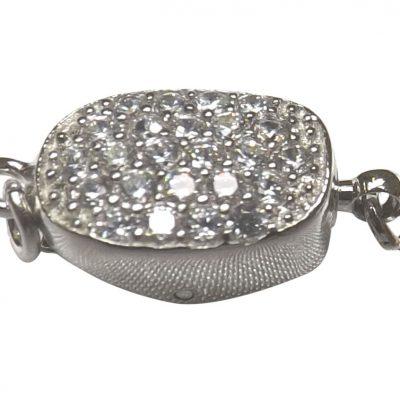 Diamond Accent Pearl Clasp