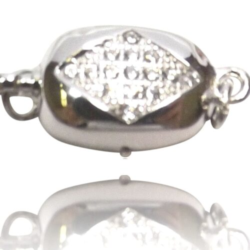 925 Sterling Silver Single Row Safety Pearl Clasp