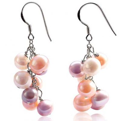 Clustered Flower 925SS Pearl Earrings