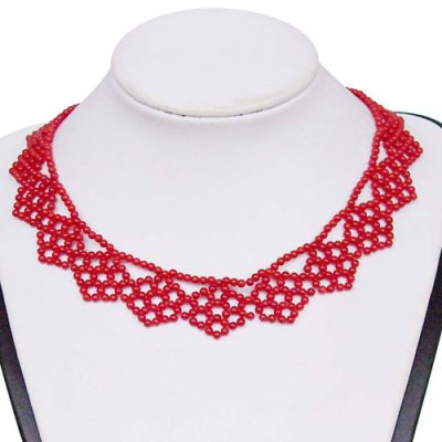 Red 2-3mm Coral Necklace in Exclusive Design