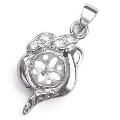 925 SS Pendant Setting in a Flower Bud Design