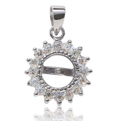 925 SS Pendant Setting in Sunflower Design