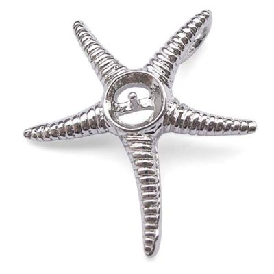 18K WG overlay Starfish Shaped Pendant Setting