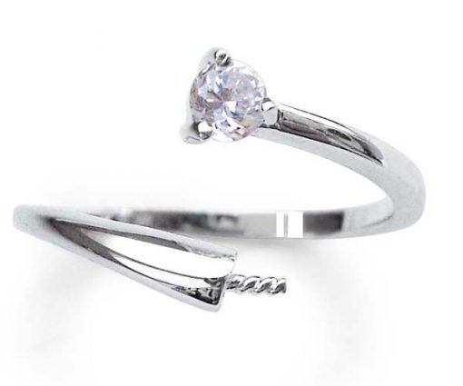 925 SS Adjustable Sized Ring Setting