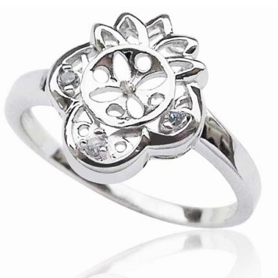 925 SS Ring Setting in Flower Design