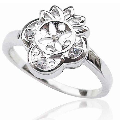 925 SS Ring Setting in Flower Design