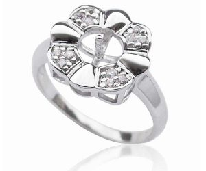 925 SS Flower Ring Setting