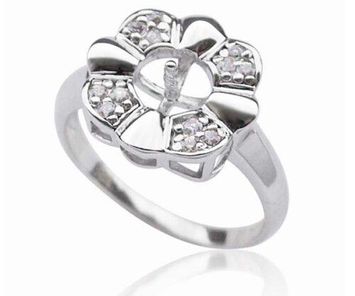 925 SS Flower Ring Setting