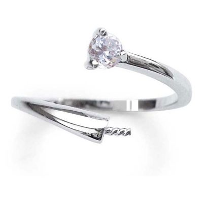 18K WG overlay Adjustable Sized Ring Setting