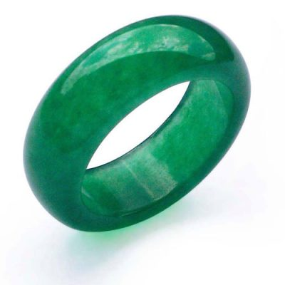 Dark Green Real Jade Ring