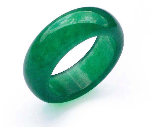 Dark Green Real Jade Ring