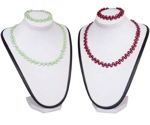 6-7mm Pancake Pearl Necklace and Bracelet Set