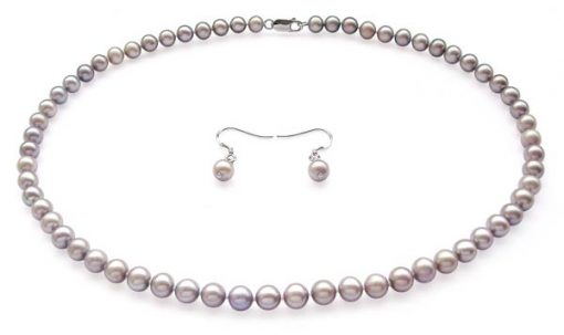 Grey Colored Pearl Set