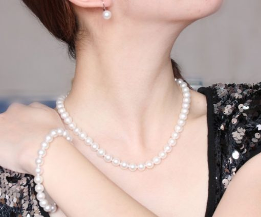 8-8.5mm AAA Gem Quality Round Pearl Set of 3