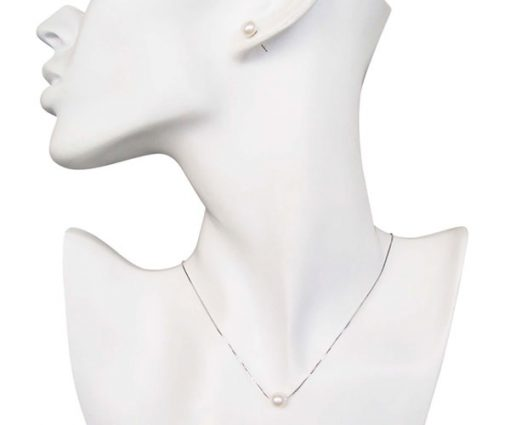 7-8mm White Add A Pearl Necklace and Earrings Set