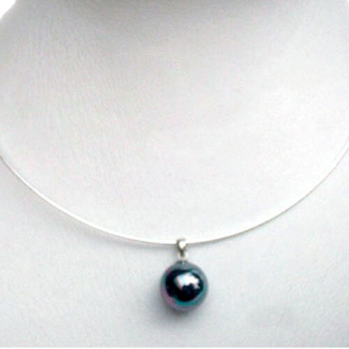 16mm Southsea Shell Pearl Pendant in 925 Sterling Silver Omega