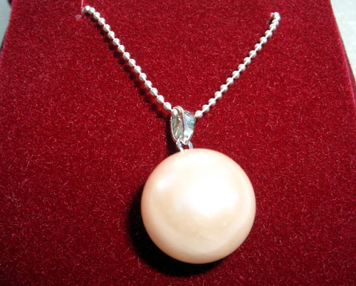 Light Pink 8mm, 10mm, 12mm, 14mm, 16mm SSS Pearl 925 SS, Free 16in 925 SS Chain