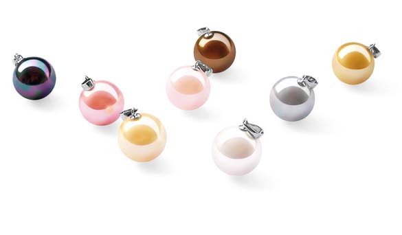 Black, Rose Pink, Champagne, Pale Pink, Chocolate, White, Grey and Gold 14mm SSS Pearl Pendant with Silk Cord