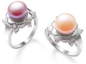 Pink and Mauve Pearl Ring