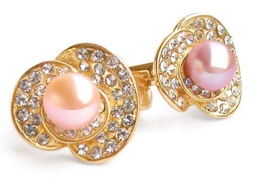 Pink and Mauve 7-8mm Freshwater Pearl Ring, 18K YG Overlay