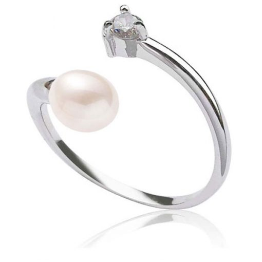 White 5-6mm Adjustable Sized Pearl Ring