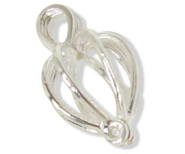 925 Pure Sterling Silver Heart Shaped Cage
