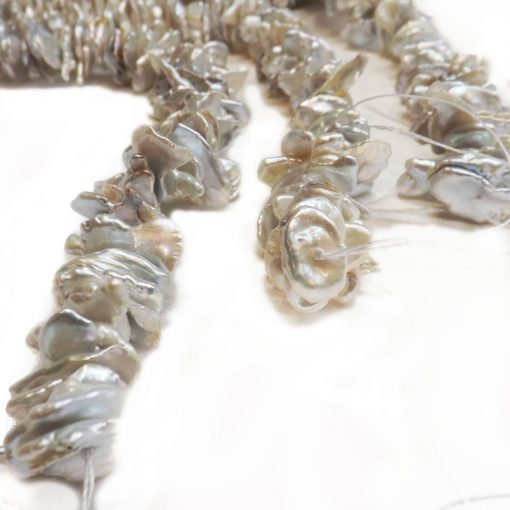 10-20mm keshi pearl strands center drilled