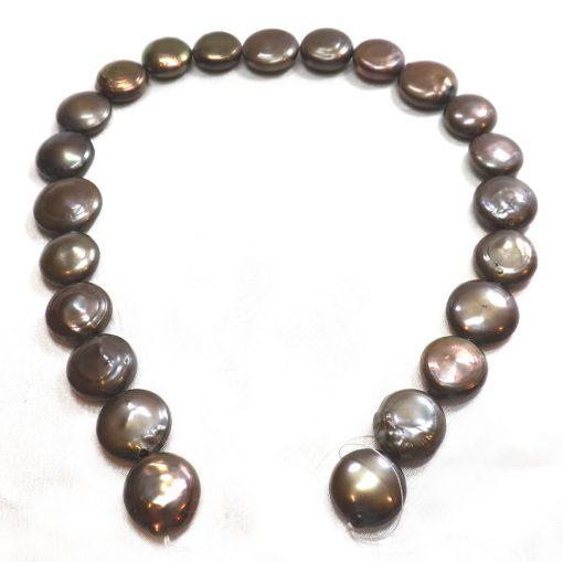 black coin pearl strand