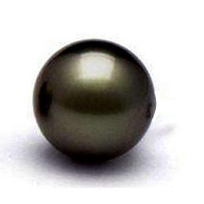 10mm Loose Tahitian Black Pearl Half Drilled