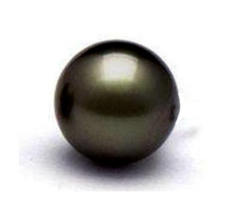 10-10.5mm Tahitian Grey Pearl Half Drilled