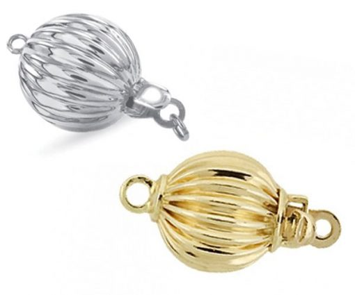 14KYG or White Gold Ball Clasp