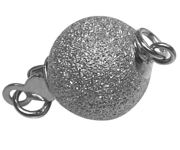 10mm 925 Sterling Silver Meshed Fancy Ball Pearl Clasp
