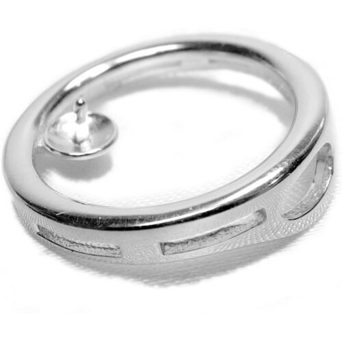 large sterling silver pendant setting