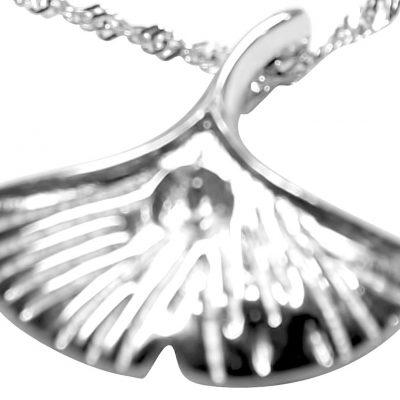 Fan Shaped 925S Silver Pendant Setting