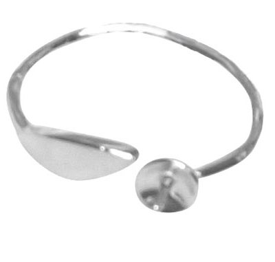 Simple Elegance Adjustable Sized 925 Sterling Silver Ring Setting