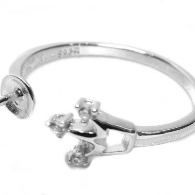 Adjustable 925SS Ring Setting with CZ