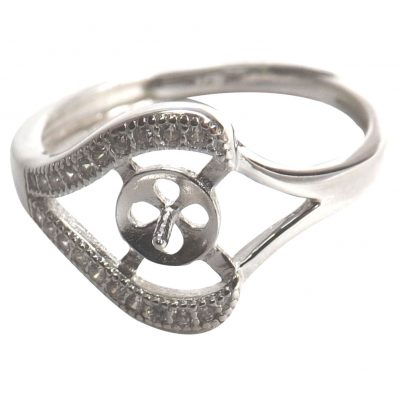 925 sterling silver pearl ring setting