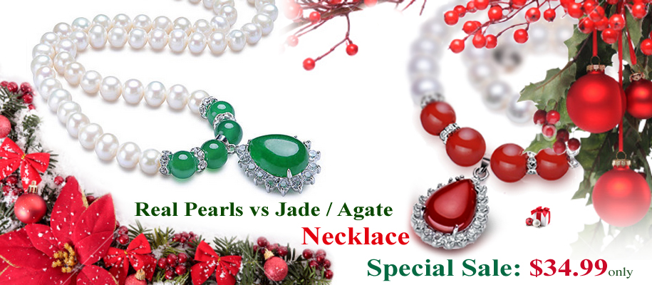 christmas pearl necklaces on sale