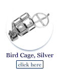 bird cage in sterling silver