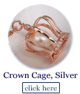 crown cage in sterling silver