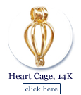 heart shaped cage in 14k gold